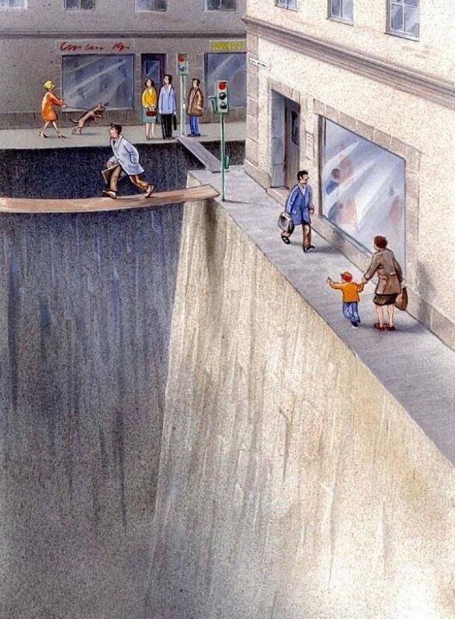 Фото №2 - Шведский художник наглядно показал, сколько места мы на самом деле отдали автомобилям