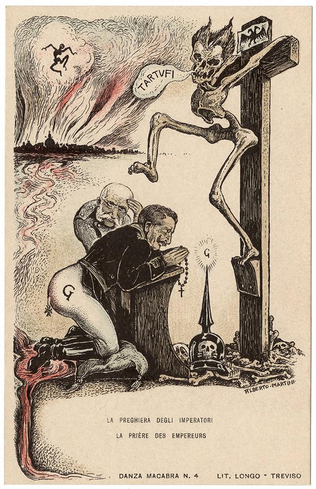 Фото №52 - Жутковатые карикатуры Первой мировой