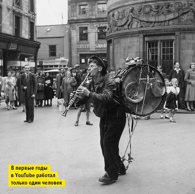 Человек-оркестр на улице