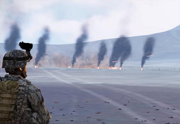 Фото №1 - Нападение на Зону 51 воссоздали в игре Arma 3, и это катастрофа (видео)