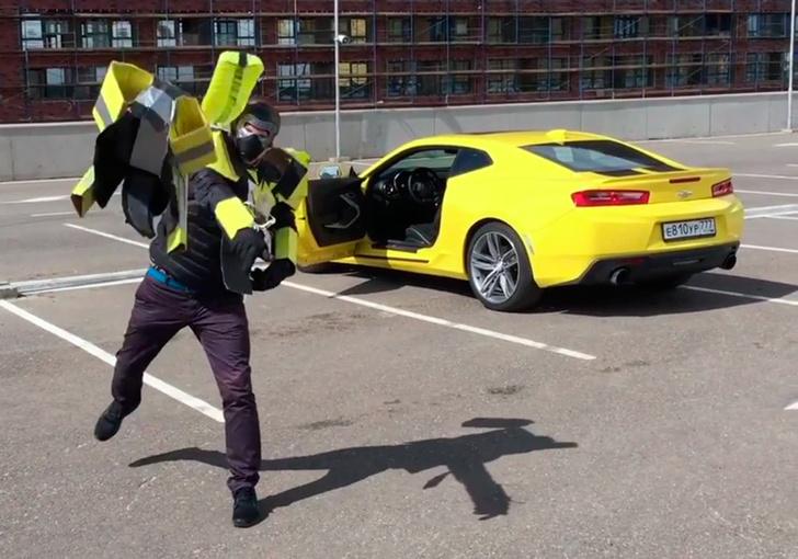 Фото №1 - Русские блогеры угнали Chevrolet Camaro, чтобы снять своих «Трансформеров»