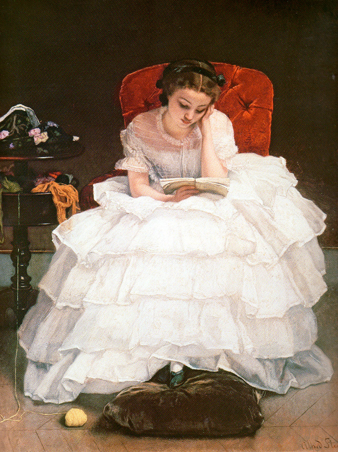 «Женщина с книгой» Альфреда Стивенса