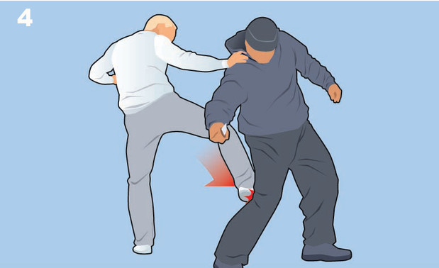самооборона от ножа движение