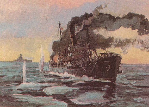 Фото №2 - История необычного морского боя: фашистский крейсер против советского острова