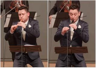 Знакомься: самый выразительный флейтист в мире (видео)