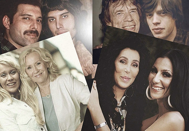 Фото №1 - Наедине с собой: рок- и поп-звезды, обнимающие самих себя, но молодых