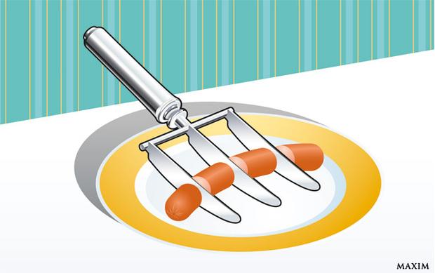 Нож для сосисок