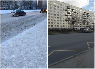 Женщина пожаловалась на лед на остановке в январе.  В апреле ей ответили, что проблема решена