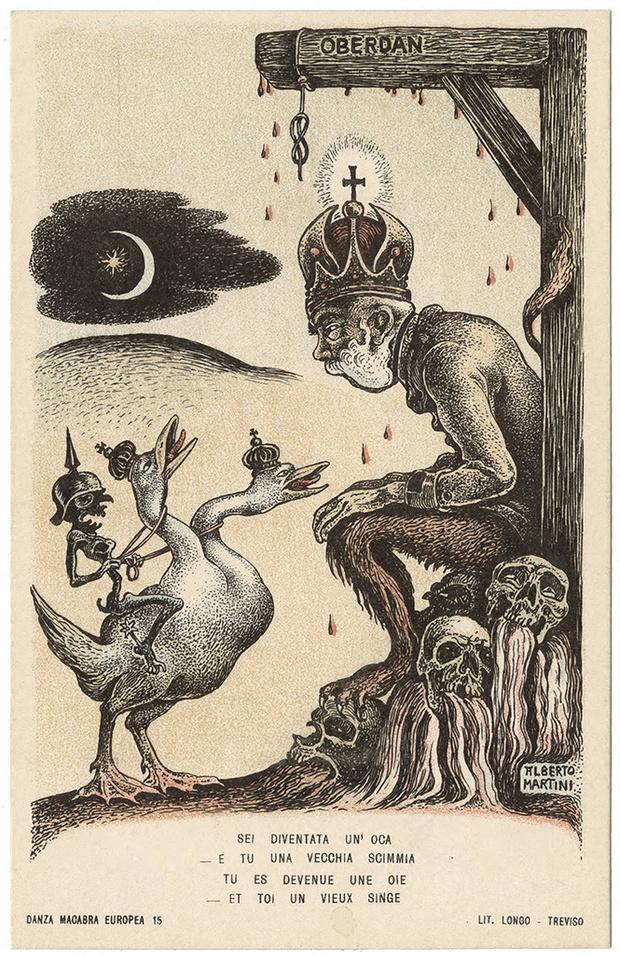 Фото №44 - Жутковатые карикатуры Первой мировой