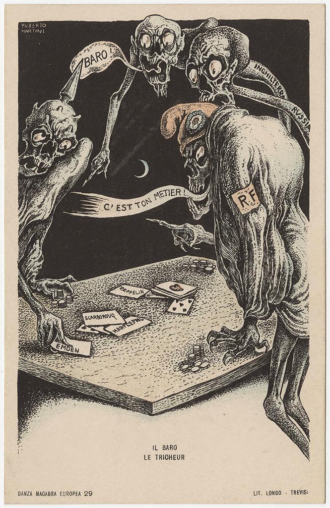 Фото №40 - Жутковатые карикатуры Первой мировой