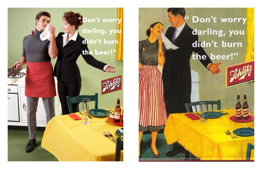«Не волнуйся, дорогой, ведь ты не сжег пиво!»