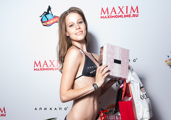 Ирина Попкова на финале Miss MAXIM 2015