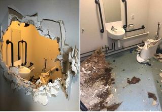 Сослуживцы в шутку заперли пьяного капитана в туалете, но он эффектно выбрался