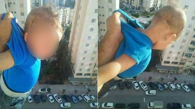 Фото №1 - Мужчина вывесил ребенка из окна 15-го этажа!