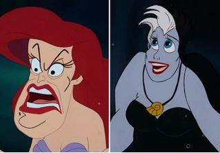 Вот как выглядят диснеевские герои и злодеи, если их лица поменять местами