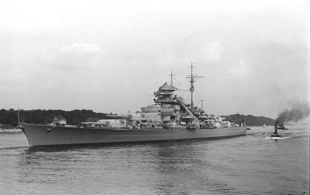 Первое рабочее место кота — линкор «Бисмарк»