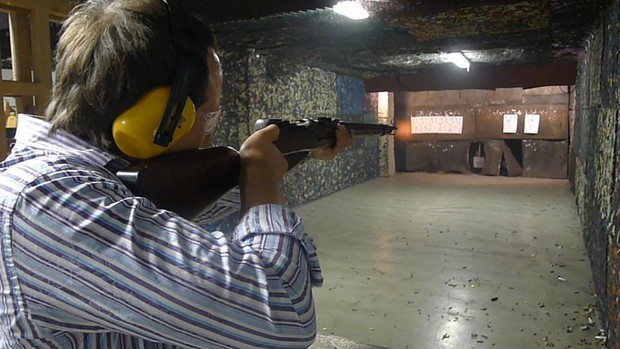Фото №7 - Каково это — стрелять из ППШ, маузера, нагана, винтовки Мосина и еще девяти видов огнестрельного оружия