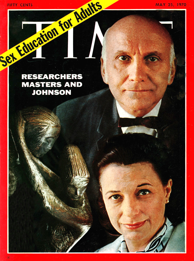 Уильям Мастерс и Вирджиния Джонсон на обложке журнала «Time», 1970 год