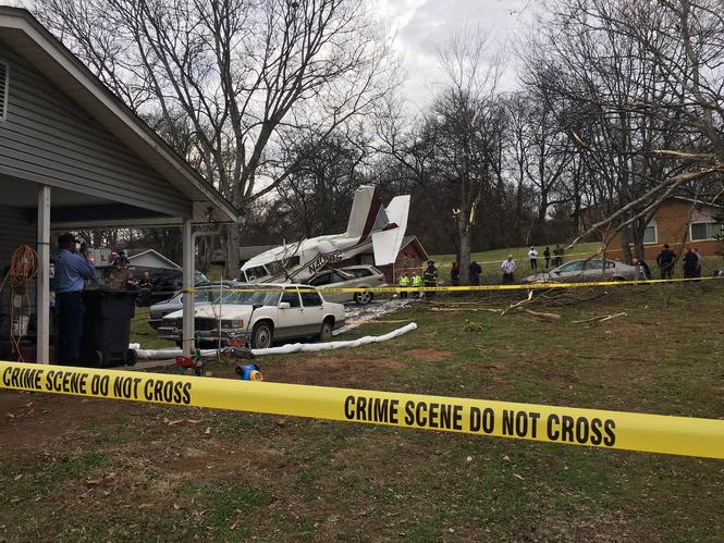 В США самолет рухнул прямо на город! (Катастрофические ФОТО и ВИДЕО)