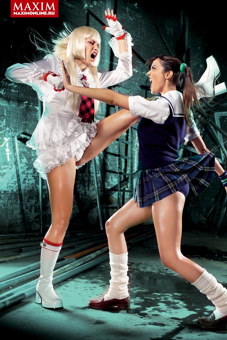 Фото №15 - Девушки из игры Tekken — добро должно быть с кулачками