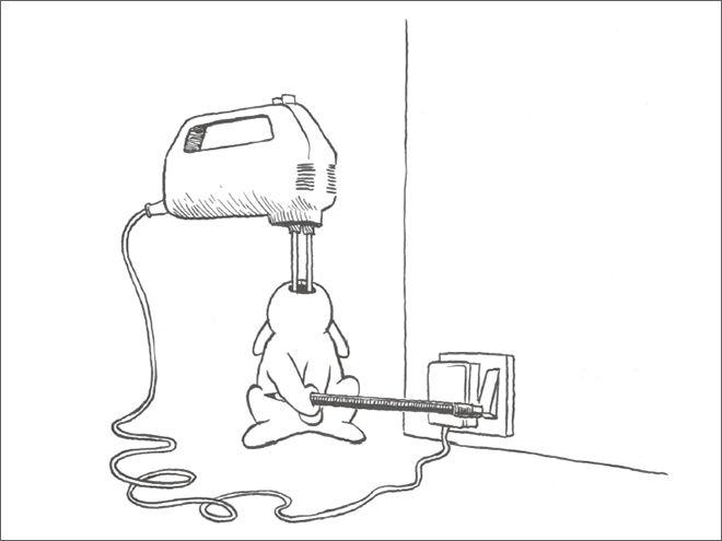 Фото №14 - Смешные и жестокие картинки про кроликов-самоубийц