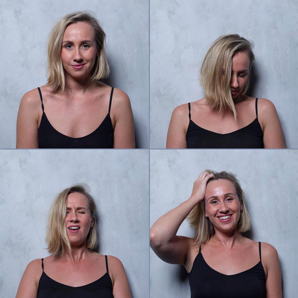 Женщин в момент оргазма