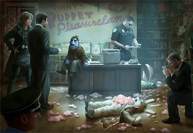Фото №1 - Маппетам отстреливают головы в трейлере фильма «Игрушки для взрослых»