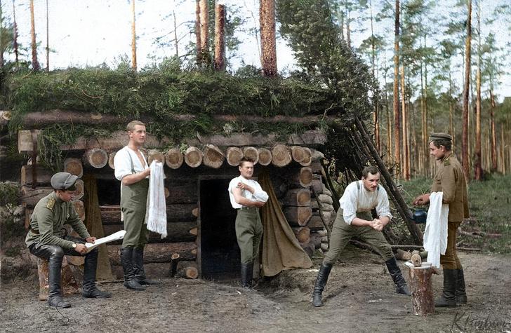 Фото №1 - 29 раскрашенных фотографий русских солдат на фронтах Первой мировой войны