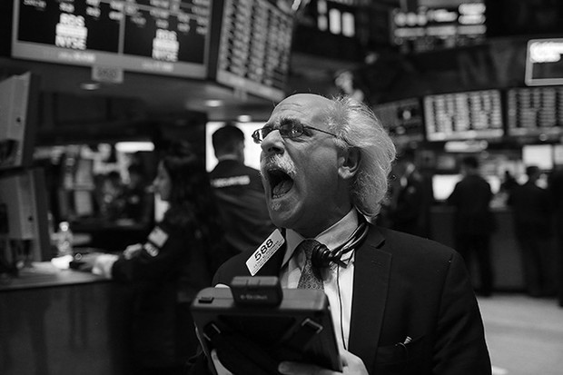 Брокер на бирже что-то кричит