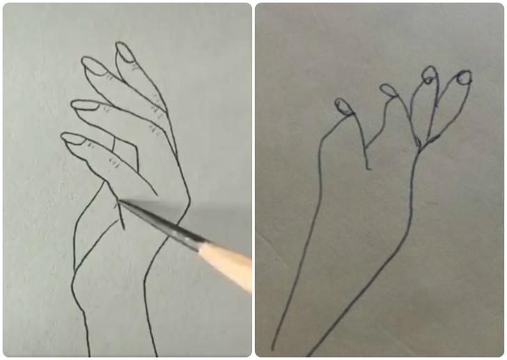 Фото №1 - В Твиттере попытались нарисовать руку по обучающему видео, но не тут-то было (12 рисунков)