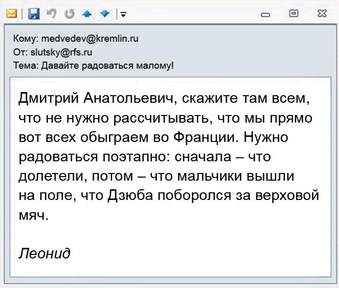 Почта Леонида Слуцкого