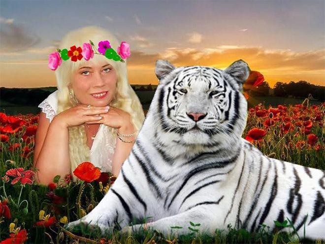 Фото №1 - Богиня Фотошопа: женщина поразила пользователей Facebook  своими фотографиями