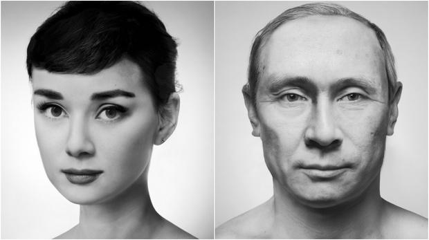 Фото №1 - Портреты европейских знаменитостей, составленные из лиц китайцев
