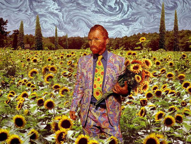 Фото №2 - 13 фотожаб, вдохновленных Ван Гогом
