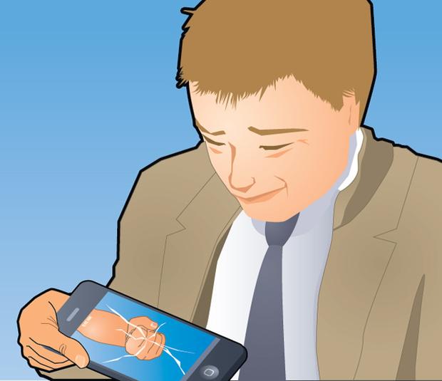 Фото №3 - Совет без слов: что делать с разбитым айфоном