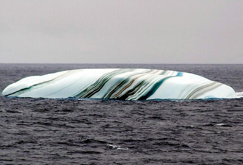 Белеет айсберг полосатый
