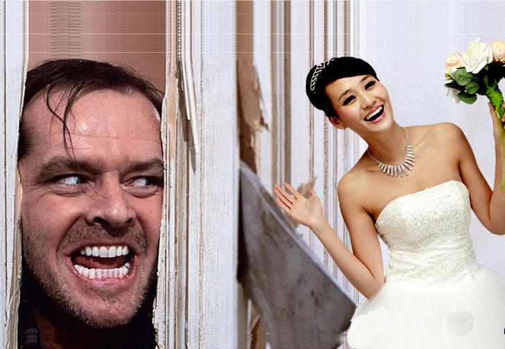 Фото №1 - Свадебный конкурс по-китайски. Зачем китайские женихи рубят двери невесты топором? Жуткое ВИДЕО