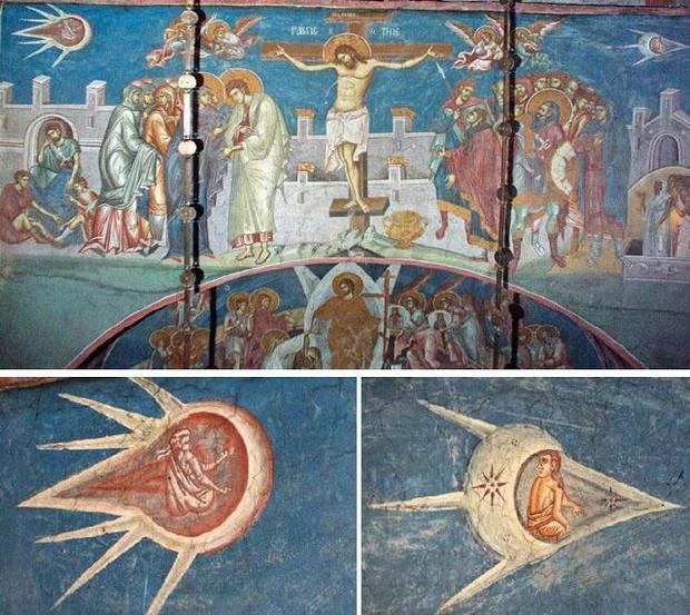 Фото №2 - 9 средневековых картин, на которых изображены НЛО