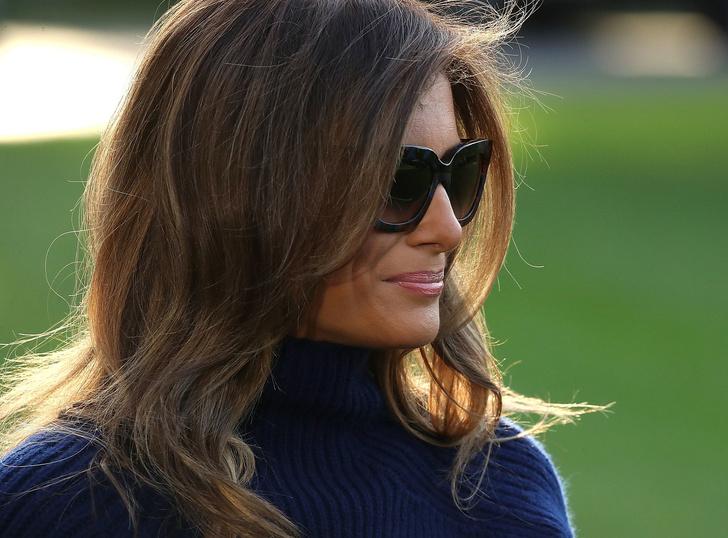 Фото №1 - Говорят, Меланья — ненастоящая! Интернет охватила теория заговора  о подмене жены Трампа двойником