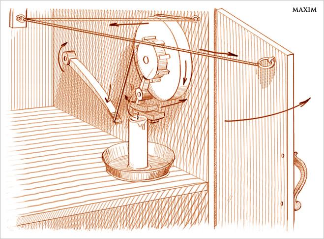 Прототип принципа освещения холодильника