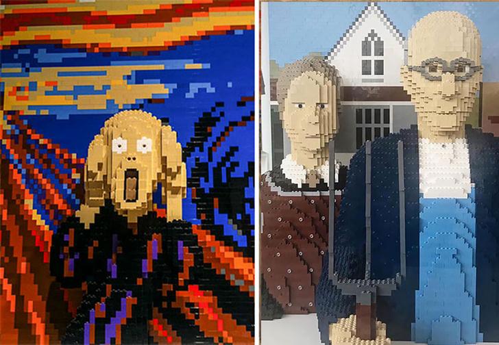 Фото №1 - Копии знаменитых картин, сделанные из Lego
