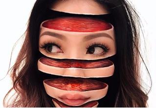Да на тебе лица нет! Жуткие и притягательные оптические иллюзии от визажиста из Канады
