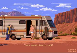 Художник перерисовывает кадры из сериалов в стиле древних компьютерных игр