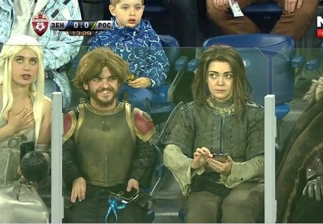герои игры престолов футбольный матч зенита драконы
