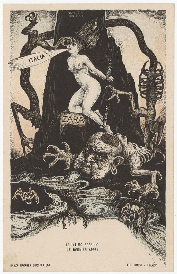 Фото №9 - Жутковатые карикатуры Первой мировой