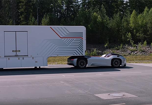 Фото №1 - Концерн Volvo разработал очень забавный беспилотный тягач