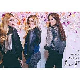 Love these babes! And these new bomber jackets ? @themightycompany congrats @mikeybaruch @jessiewillner on your new launch!! ❤️