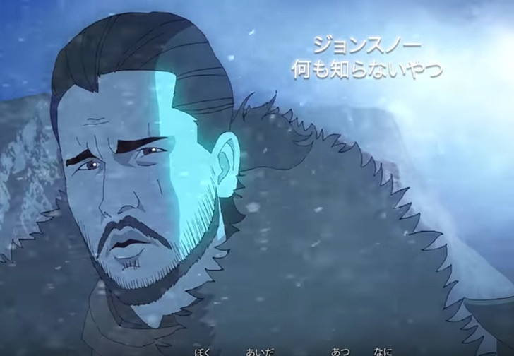 Фото №1 - Неожиданное видео! «Игра престолов» в стиле аниме!