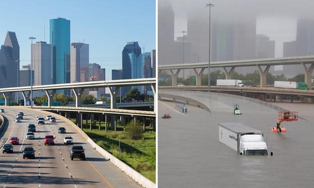 Фото №1 - Жуткие фотографии: Хьюстон до и после урагана