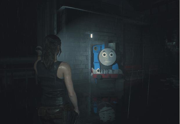Фото №1 - Главного зомби в игре Resident Evil 2 заменили на паровозик Томас (видео)